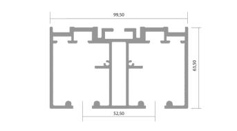 Binario plana 2 vie per ante pl005 for Binari per ante scorrevoli ikea