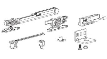 Kit Fermi Ammortizzati Per Ante Scorrevoli Esterne.Binario Superiore Per Scorrevoli Mod 1280 Terno 1280